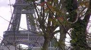 Paris famous bridge, Grenelle view Stock Footage