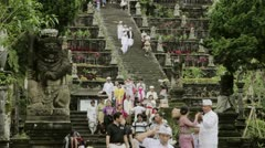 Timelapse of temple pilgrims Stock Footage