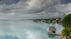 Bacalar lagoon mexico Stock Footage