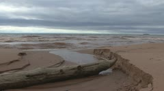P01840 Lake Superior Shoreline and Waves Stock Footage