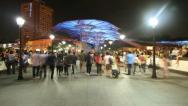 Stock Video Footage of Singapore- Clarke Quay Bridge