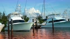 Mexico luxury fishing boats caribbean Stock Footage