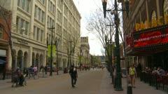 Calgary, Ab ca.2012 Stephen Ave Mall Stock Footage