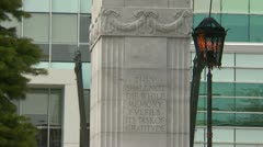 Eternal flame and war monument Stock Footage