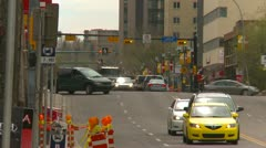 Traffic on 4th Street long shot, Calgary Stock Footage