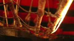 Tourist atraction pirate boat Stock Footage