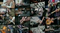 Multiscreen of musicians HD Footage