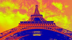 Punky Paris. Light timelapse. Stock Footage