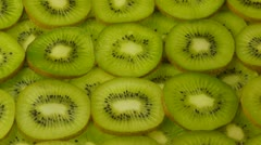 Slices of kiwi fruit Stock Footage