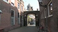 Stock Video Footage of Leiden library alley arms lion