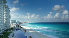 Stock Video Footage of cancun caribbean coast
