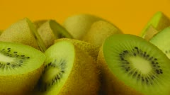 Halfs an kiwi fruits. Stock Footage