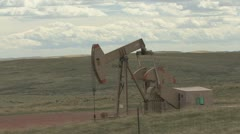 P01844 Oil Rig in Wyoming Stock Footage