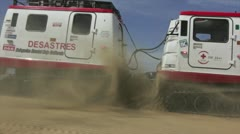 Hagglund Vehicle in sand Stock Footage