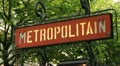 Metropolitain sign. Footage