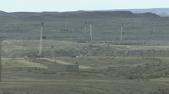 P01848 Oil Wells in Wyoming Stock Footage