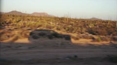 Car shadow tunning cactus Stock Footage