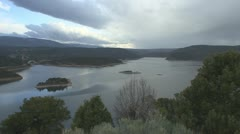 P01858 Flaming Gorge Reservoir Stock Footage