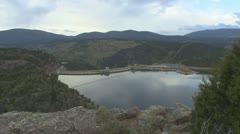 P01859 Flaming Gorge Dam Stock Footage