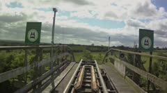Roller Coaster 60 Seconds Stock Footage