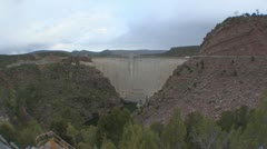 P01860 Flaming Gorge Dam Stock Footage
