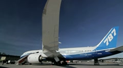 Stock Video Footage of Boeing 787 Dreamliner wing view