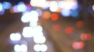 Night Traffic Bokeh Stock Footage