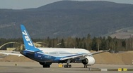 Stock Video Footage of Boeing 787 Dreamliner taxing