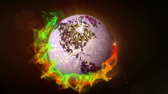 Disco Ball in Particle 1, with Alpha Channel - HD1080 Stock Footage
