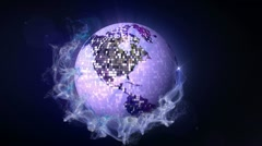 Disco Ball in Particle 2, with Alpha Channel - HD1080 Stock Footage