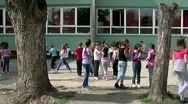 School 25 fps 01 Stock Footage