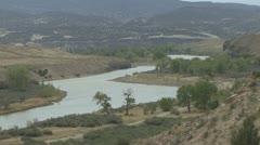 P01866 Green River at Dinosaur National Park Stock Footage