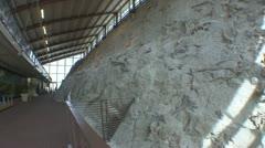 P01865 Dinosaur Bones in Rock at Dinosaur National Park Stock Footage
