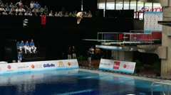 Diving Championship Slowmotion - stock footage
