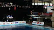 Stock Video Footage of Diving Championship Male 3m