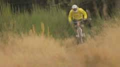 Mountainbike Downhill 720p 50 fps Stock Footage