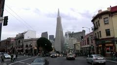 San Francisco Transamerica Pyramid timelapse Stock Footage