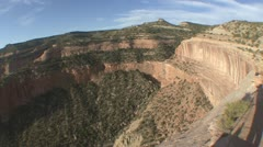P01875 Fisheye of Canyon and Cliffs at Colorado National Park Stock Footage