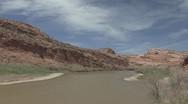 P01886 Colorado River in Utah Stock Footage