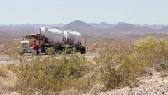 Tanker Truck on Arizona Desert Highway Stock Footage