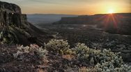 4K HDR Canyon Sunset Reveal Time Lapse Stock Footage