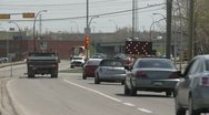 Detour on city roadway Stock Footage