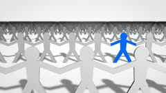 A Blue Man in a Crowd of White Men - stock footage