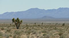 Official Vehicle Races Across Desert from Area 51 Stock Footage