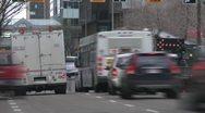Time-lapse, detour on downtown roadway Stock Footage