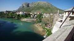 Mostar Bosnia and Herzegovina Stock Footage