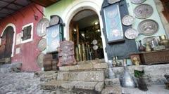 Mostar - copper workshop. Stock Footage