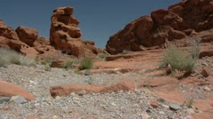 Valley of Fire dry river bed Stock Footage