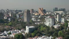 Mexico DF skyline city urban Stock Footage