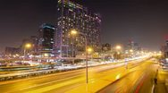 Stock Video Footage of 4k resolution Beijing Central Business District night scene time lapse